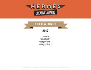 Hermes Award Gold Winner Image